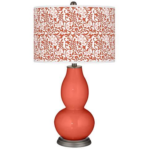 Koi Gardenia Double Gourd Table Lamp