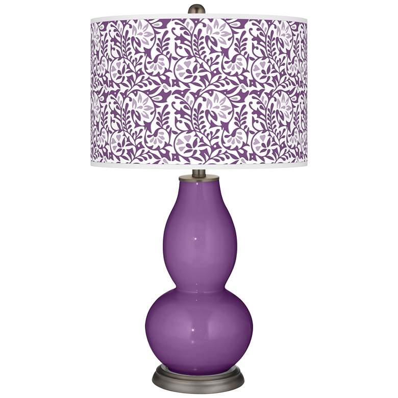Passionate Purple Gardenia Double Gourd Table Lamp