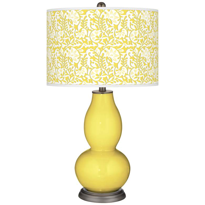 Lemon Twist Gardenia Double Gourd Table Lamp