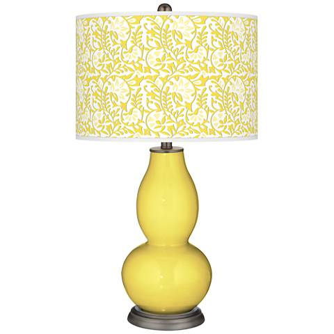 Lemon Twist Gardenia Double Gourd Table Lamp
