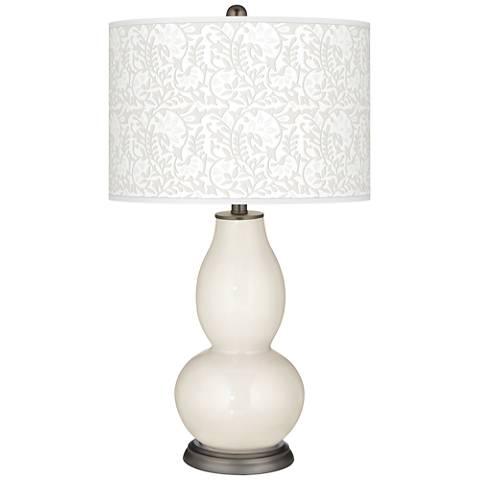 West Highland White Gardenia Double Gourd Table Lamp