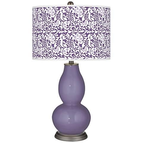 Purple Haze Gardenia Double Gourd Table Lamp