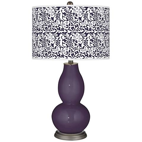 Quixotic Plum Gardenia Double Gourd Table Lamp