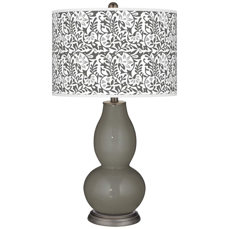 Gauntlet Gray Gardenia Double Gourd Table Lamp
