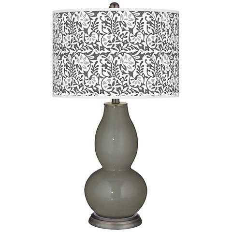 Gauntlet Gray Gardenia Double Gourd Table Lamp