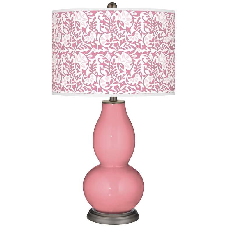 Haute Pink Gardenia Double Gourd Table Lamp