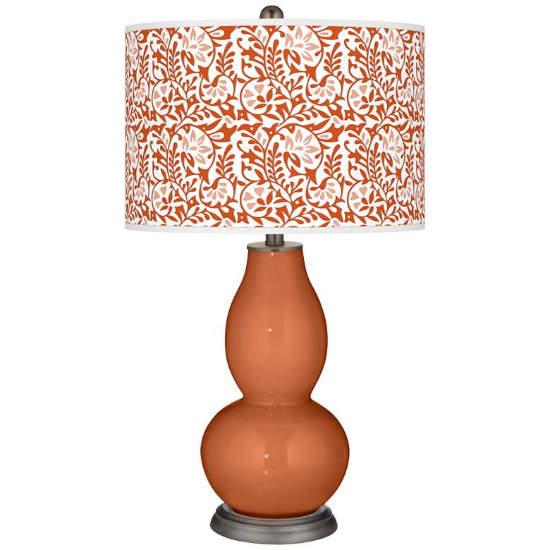 Robust Orange Gardenia Double Gourd Table Lamp