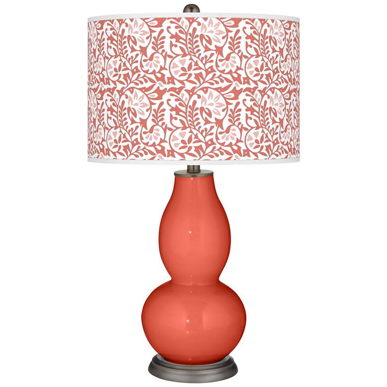 Coral Reef Gardenia Double Gourd Table Lamp