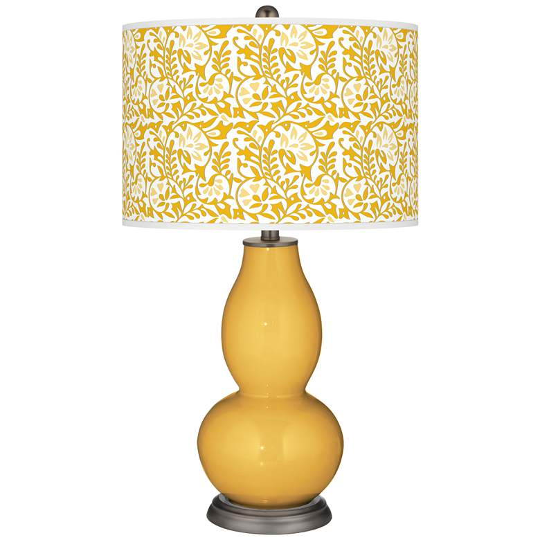 Goldenrod Gardenia Double Gourd Table Lamp