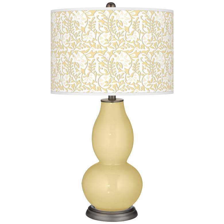 Butter Up Gardenia Double Gourd Table Lamp