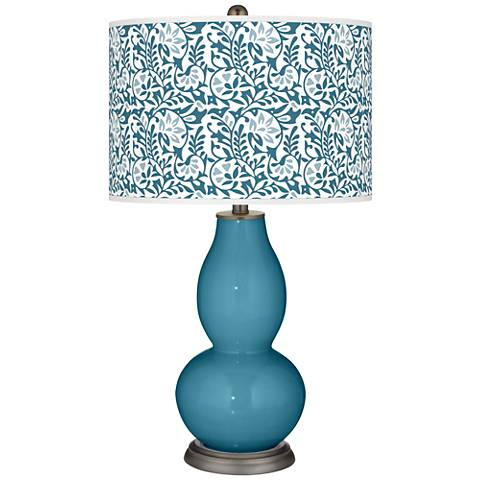 Great Falls Gardenia Double Gourd Table Lamp