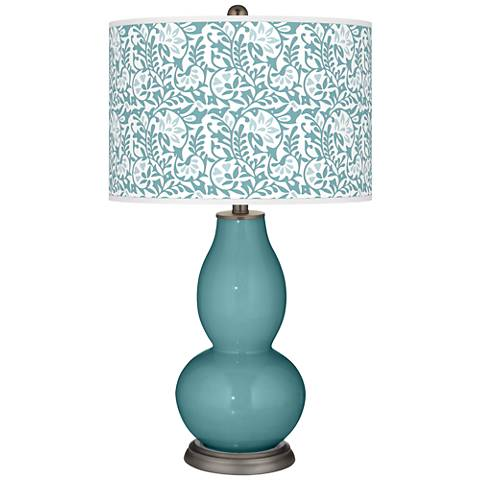 Reflecting Pool Gardenia Double Gourd Table Lamp
