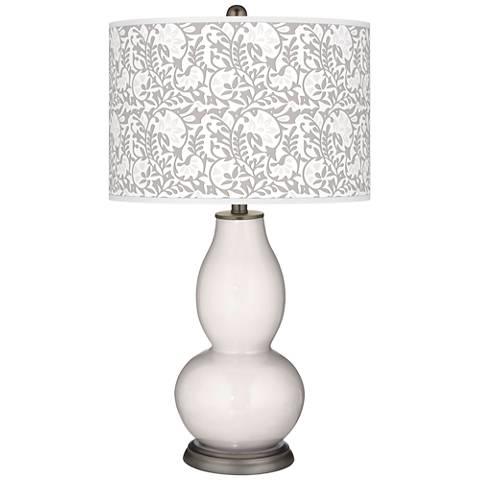 Smart White Gardenia Double Gourd Table Lamp