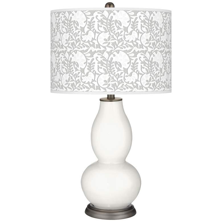 Winter White Gardenia Double Gourd Table Lamp