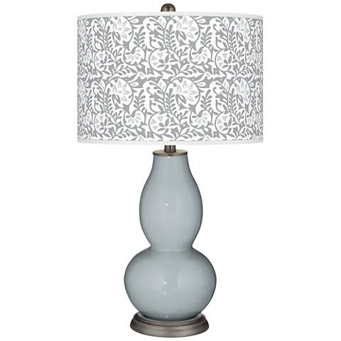 Uncertain Gray Gardenia Double Gourd Table Lamp