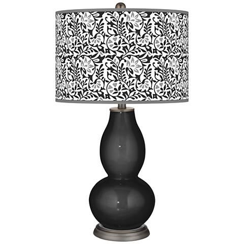 Tricorn Black Gardenia Double Gourd Table Lamp