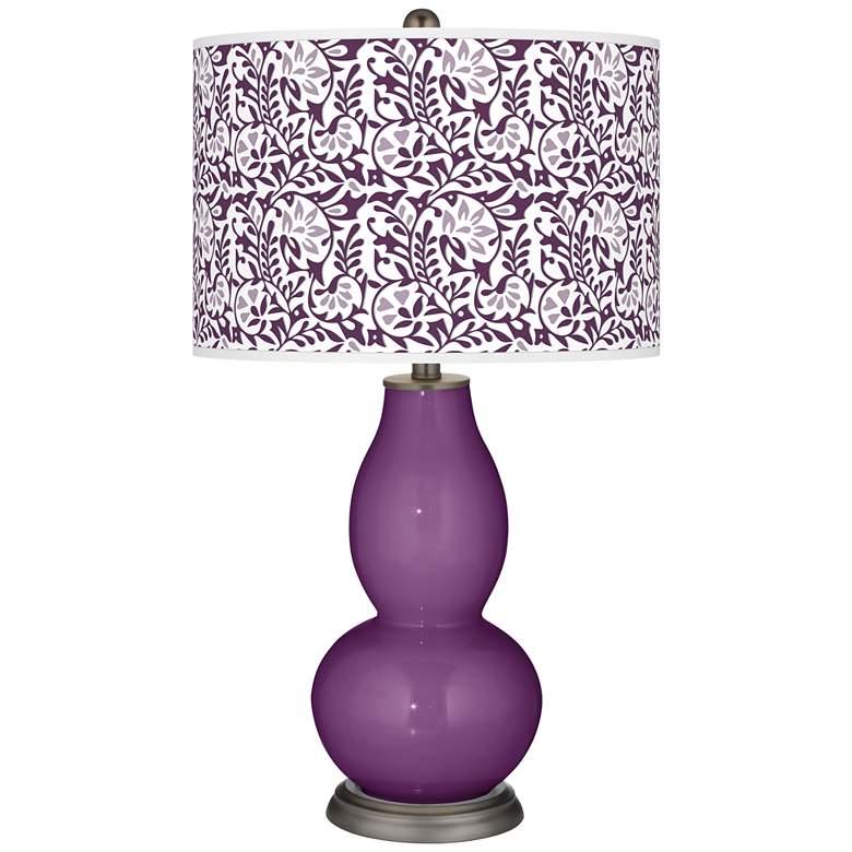 Kimono Violet Gardenia Double Gourd Table Lamp
