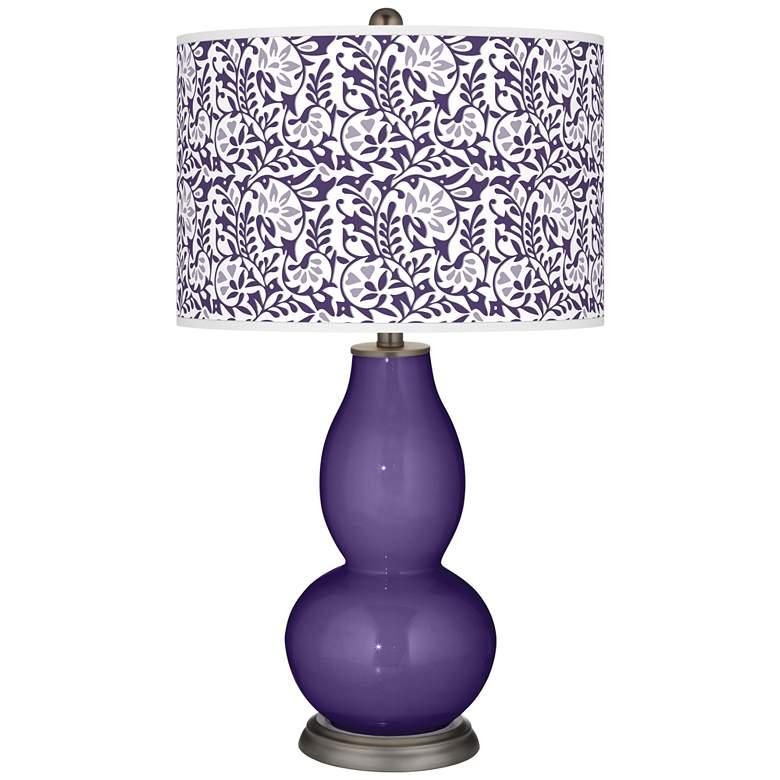 Izmir Purple Gardenia Double Gourd Table Lamp