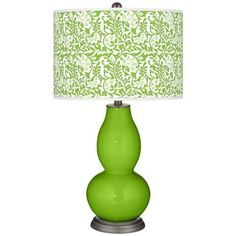 Neon Green Gardenia Double Gourd Table Lamp