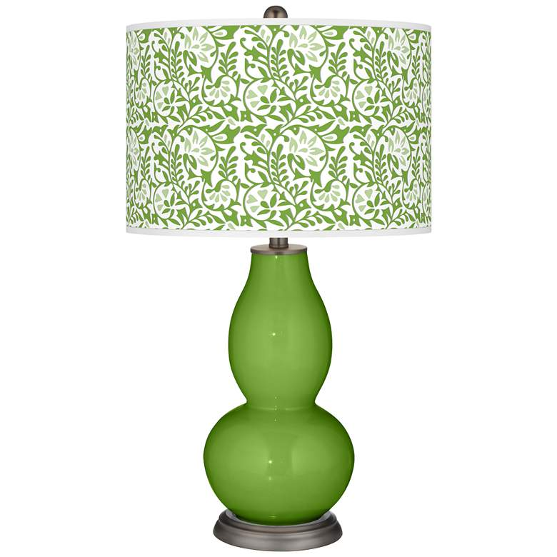 Rosemary Green Gardenia Double Gourd Table Lamp