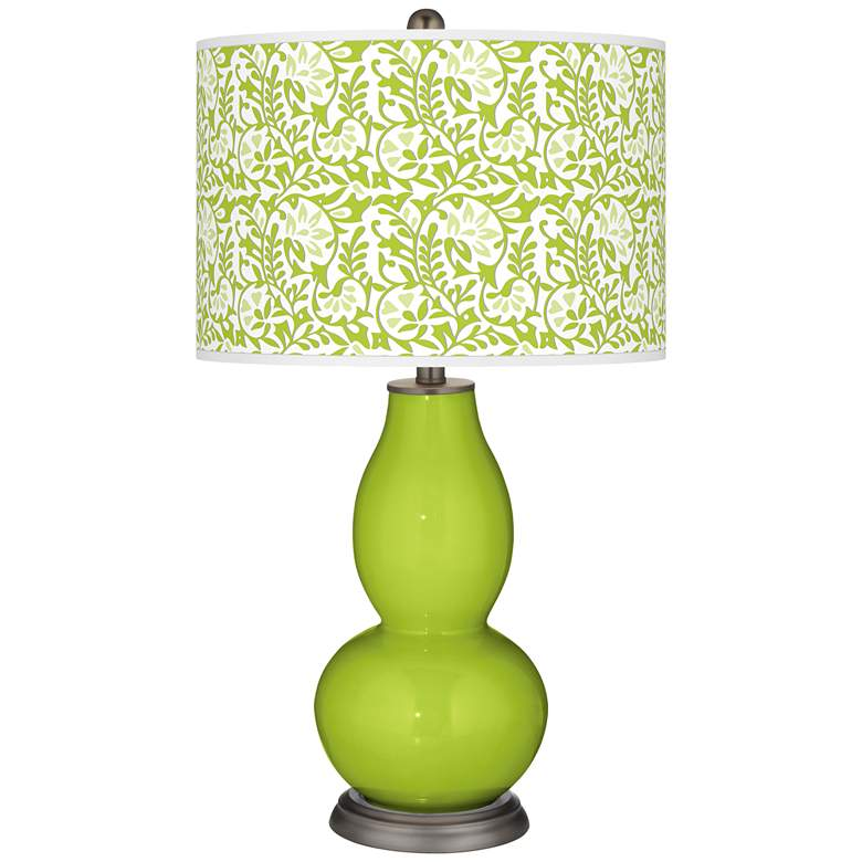 Tender Shoots Gardenia Double Gourd Table Lamp