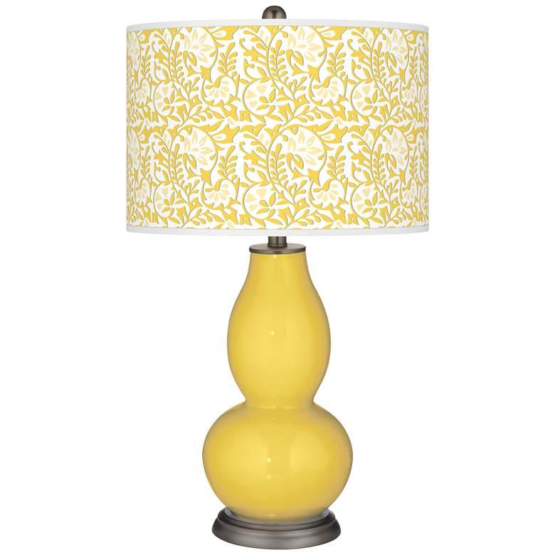 Lemon Zest Gardenia Double Gourd Table Lamp