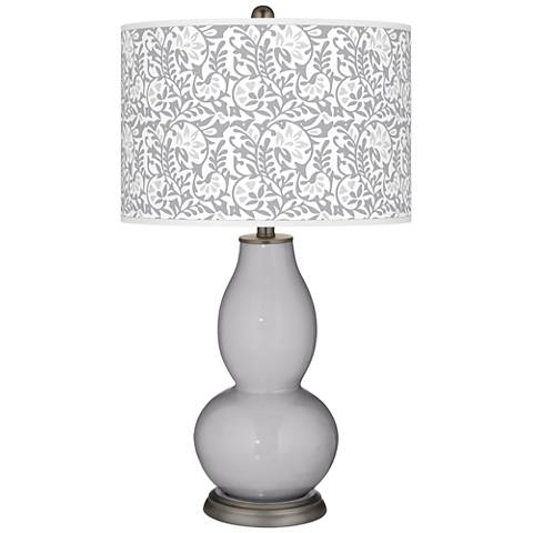 Swanky Gray Gardenia Double Gourd Table Lamp