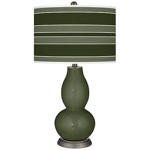 Secret Garden Bold Stripe Double Gourd Table Lamp