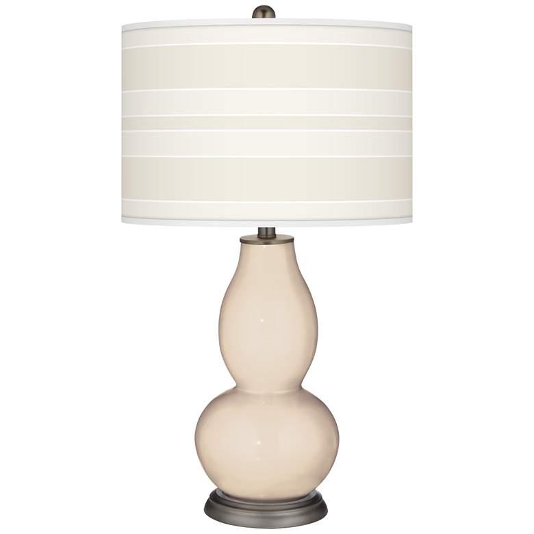 Steamed Milk Bold Stripe Double Gourd Table Lamp