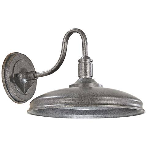 """Harbison 9 3/4"""" High Textured Silver LED Outdoor Wall Light"""