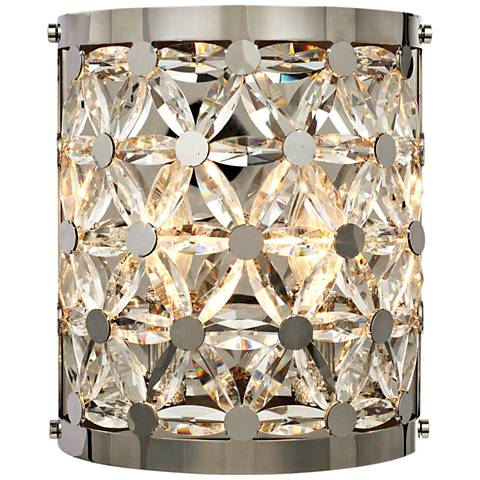 "Cassiopeia 10 1/2"" High Polished Nickel Wall Sconce"