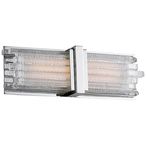 "Maxim Unity 15"" Wide Polished Nickel LED Bath Light"