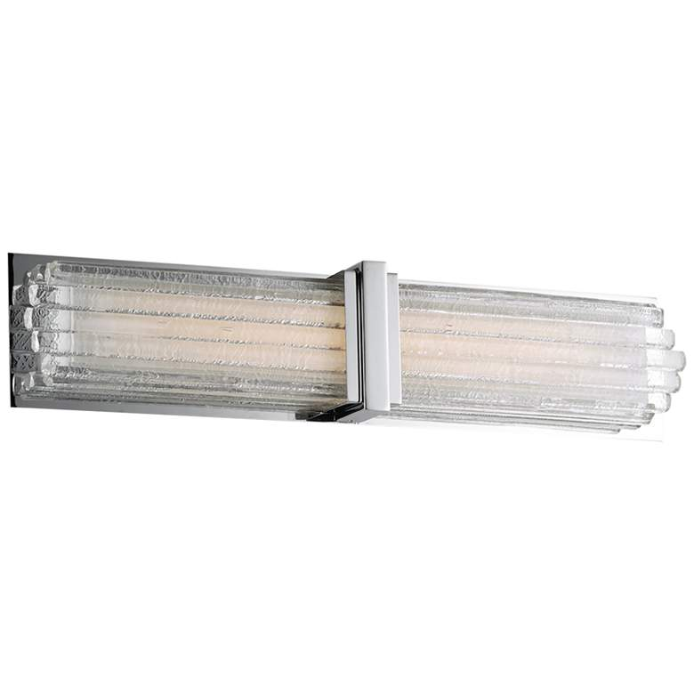 "Maxim Unity 24"" Wide Polished Nickel LED Bath Light"