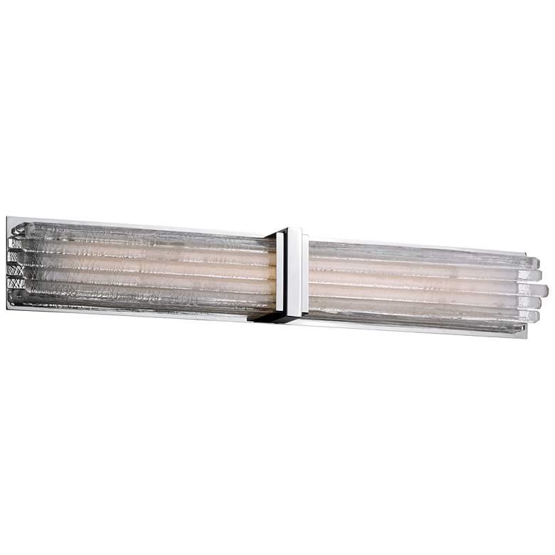 "Maxim Unity 32"" Wide Polished Nickel LED Bath Light"