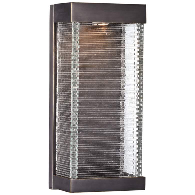 """Maxim Stackhouse VX 16"""" High Bronze LED Outdoor Wall Light"""