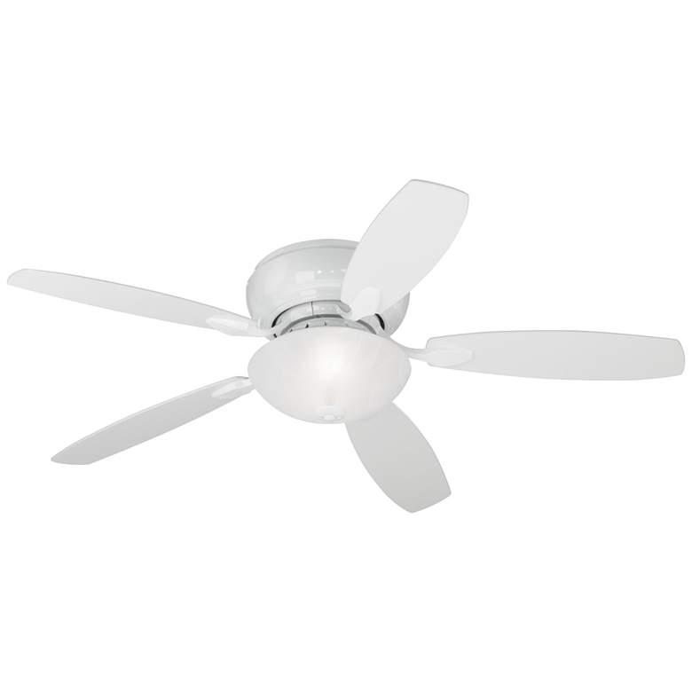"""52"""" Casa Habitat White Hugger LED Ceiling Fan"""