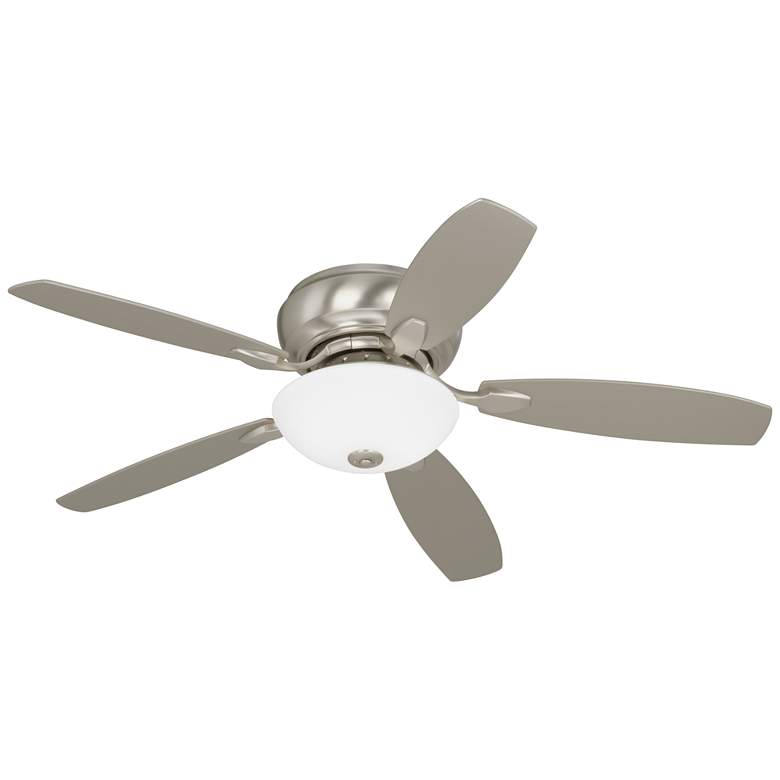 Casa Habitat™ Brushed Nickel Hugger LED Ceiling Fan
