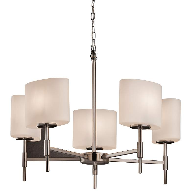 """Fusion™ Union 23 1/2"""" W Brushed Nickel 5-Light Chandelier"""