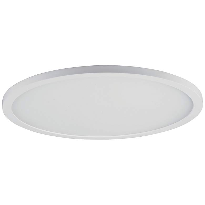 "Maxim Wafer 15"" Wide White 4000K LED Round Ceiling Light"