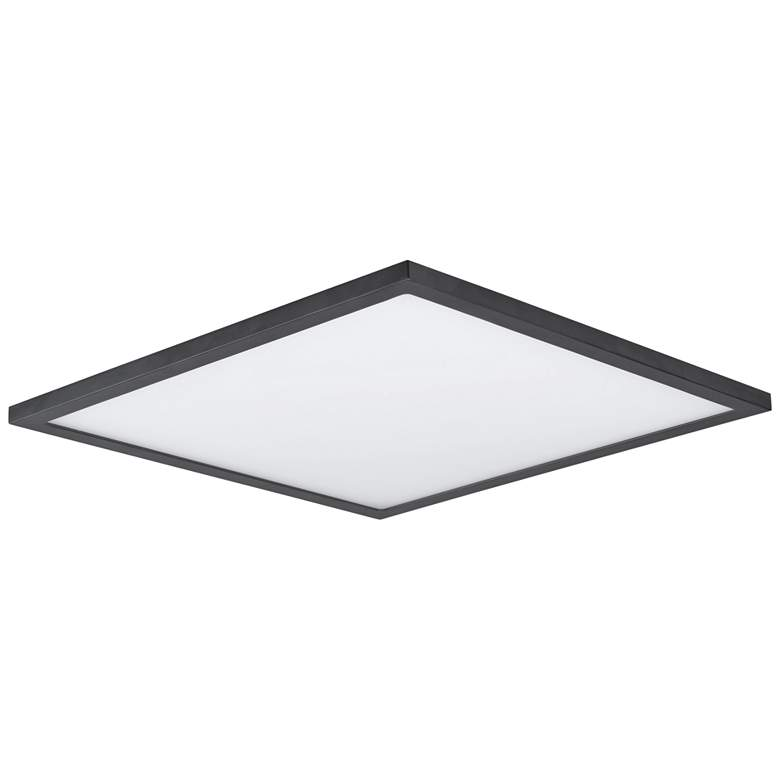 "Maxim Wafer 15"" Wide Bronze 3000K LED Square Ceiling Light"