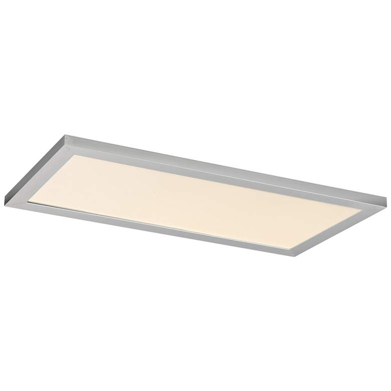 """Maxim Sky Panel 23 1/2"""" Wide Silver LED Ceiling Light"""