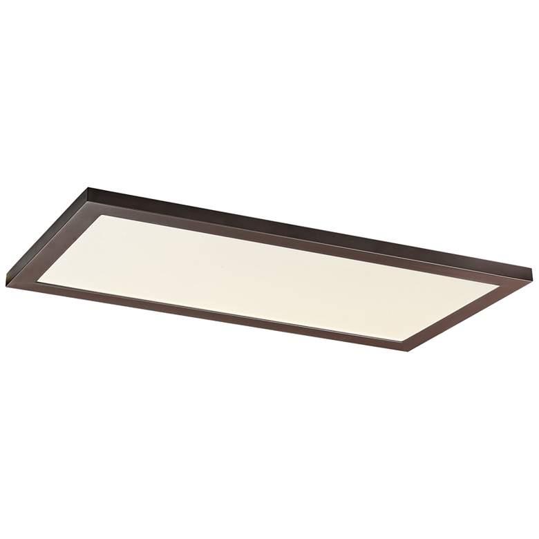 "Maxim Sky Panel 23 1/2"" Wide Bronze LED Ceiling Light"