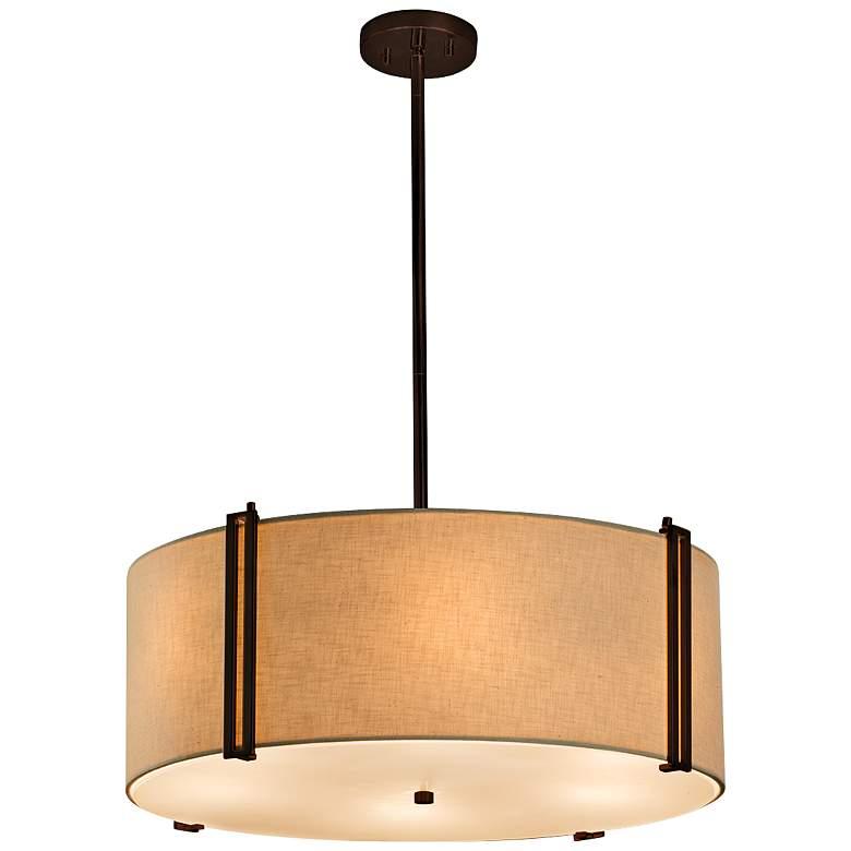 "Textile™ Reveal 24 1/2"" Wide Dark Bronze Pendant Light"