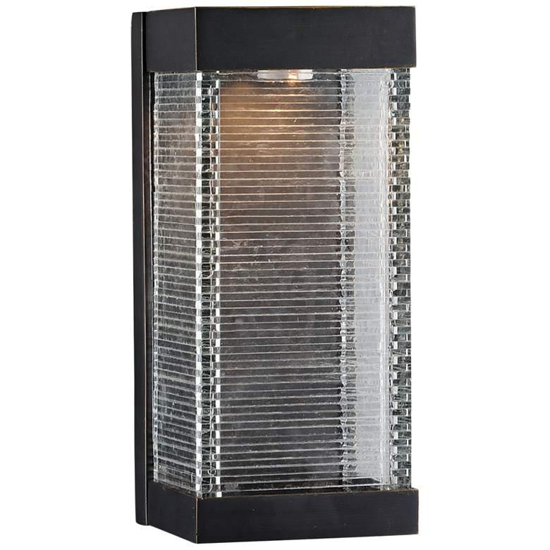 """Maxim Stackhouse VX 13"""" High Bronze LED Outdoor Wall Light"""