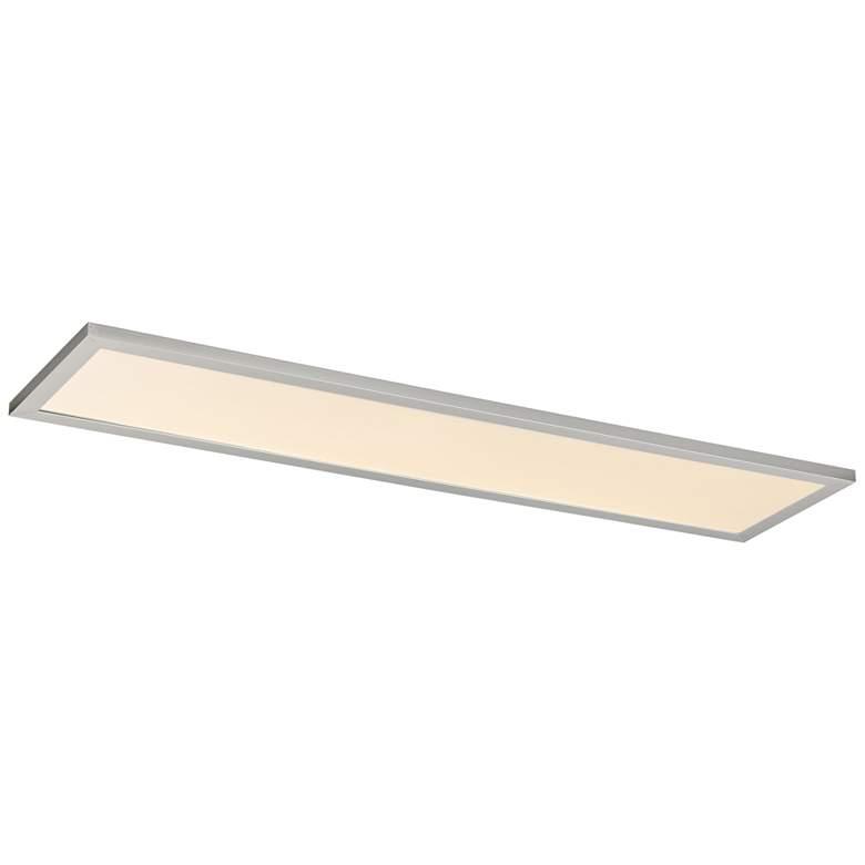 "Maxim Sky Panel 48"" Wide Brushed Aluminum LED Ceiling Light"