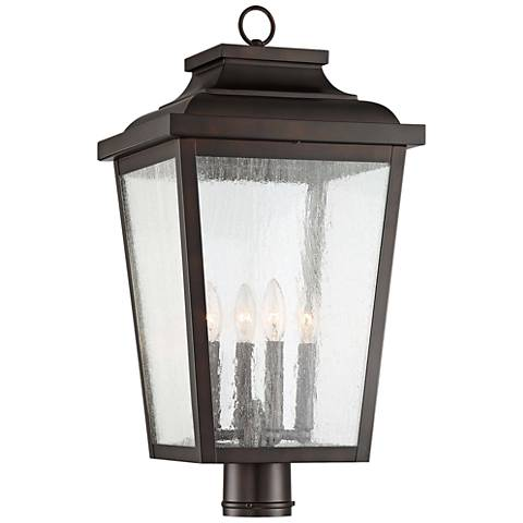 "Irvington Manor 24 1/4""H Chelesa Bronze Outdoor Post Light"