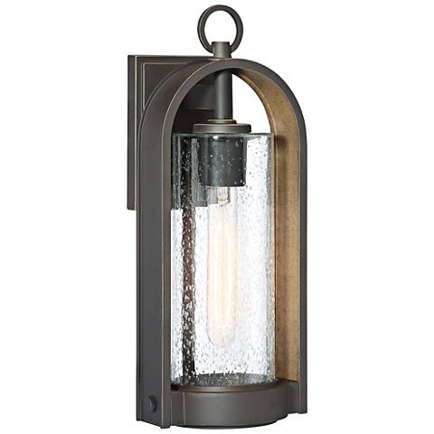 """Kamstra 16 1/2"""" High Oil-Rubbed Bronze Outdoor Wall Light"""