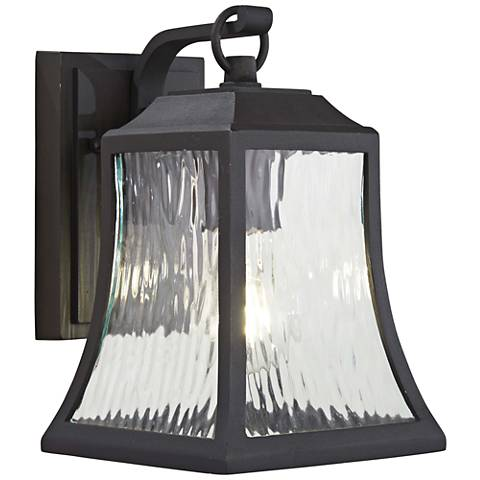 "Cassidy Park 9 3/4"" High Black Outdoor Wall Light"