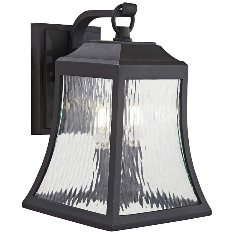 "Cassidy Park 12 3/4"" High Black Outdoor Wall Light"