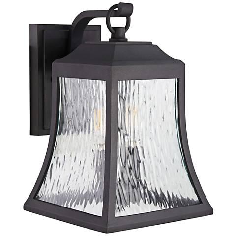 "Cassidy Park 15 1/2"" High Black Outdoor Wall Light"